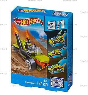 Конструктор Mega Bloks «Машинка Hot Wheels 3 в 1», CNF33, детские игрушки