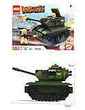 Конструктор с танком и военным, 81669