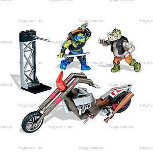 Конструктор Mega Bloks «Атака байкеров» из фильма «Подростки-мутанты Черепашки-ниндзя 2», DPW10, магазин игрушек