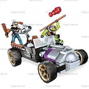 Конструктор Mega Bloks «Гоночный автомобиль Донни» серии «Черепашки-ниндзя», DMX52, игрушки