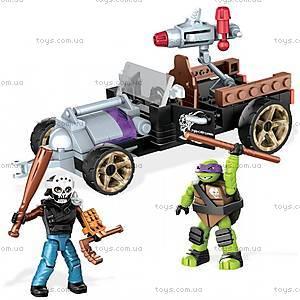 Конструктор Mega Bloks «Гоночный автомобиль Донни» серии «Черепашки-ниндзя», DMX52, детские игрушки