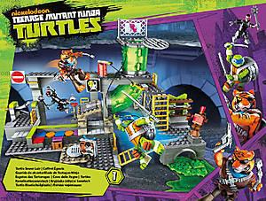 Конструктор Mega Bloks «Подземное убежище черепашек» серии «Черепашки-ниндзя», DMX55, цена