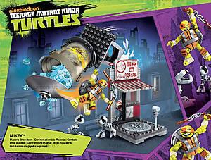 Конструктор Mega Bloks «Поединок в пиццерии» серии «Черепашки-ниндзя», DMX51, игрушки
