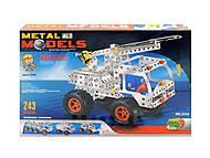 Конструктор металлический «Грузовик-кран», 245 деталей, 3114, купить
