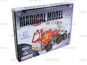 Металлический конструктор «Пожарная машина», 169 деталей, 816B-24, фото
