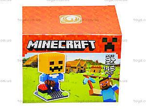 Конструктор для детей Minecraft, 165 деталей, 1016, отзывы