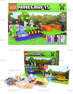 Детский конструктор Minecraft, 232 деталей, 44006