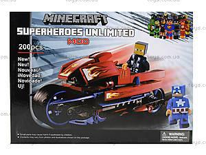 Конструктор Minecraft «Мотоцикл», 200 деталей, 15333, отзывы
