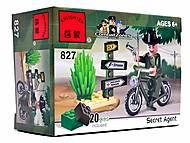 Конструктор «Мотоцикл», 20 элементов, 827, детские игрушки
