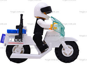 Конструктор «Мотоцикл полиции», M38-B1100, цена