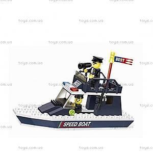 Детский конструктор «Полицейская моторная лодка», 040213, купить