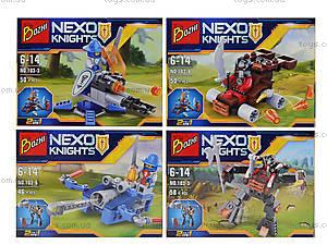 Конструктор NEXO knights «Рыцарь и его средство передвижения», 103-18, цена