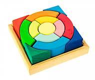 Конструктор nic деревянный «Разноцветный круг», NIC523344, игрушка
