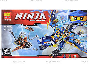 Конструктор Ninja «Светящийся дракон Джея», 349 деталей, 10446, отзывы