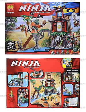 Конструктор Ninja «Тигровый остров», 449 деталей, 10461