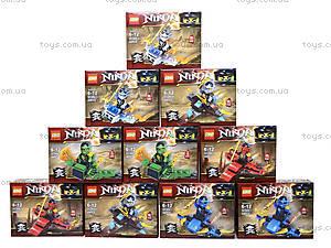 Конструктор Ninja «Гонщик», 55 деталей, SX3002-4, магазин игрушек