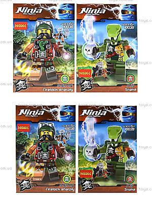 Конструктор с героями Ninja, 6 видов, 10035-10040
