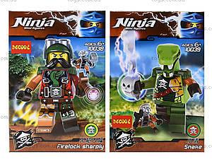 Конструктор с героями Ninja, 6 видов, 10035-10040, игрушки
