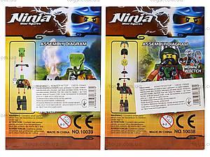 Конструктор с героями Ninja, 6 видов, 10035-10040, детские игрушки