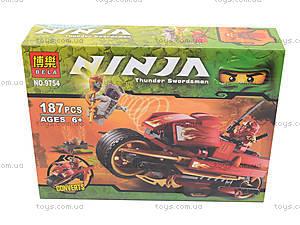 Детский конструктор «Мотоцикл ниндзя», 9754, игрушки