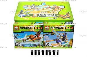 Конструктор Ninjagh «Герой с транспортом», JX80016, купить