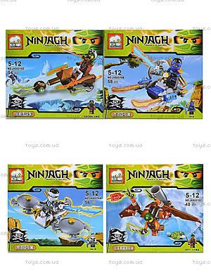 Конструктор Ninjagh «Герой с транспортом», JX80016