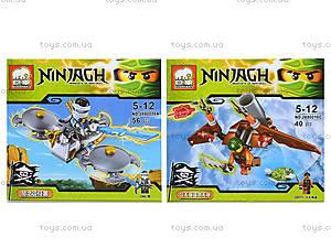 Конструктор Ninjagh «Герой с транспортом», JX80016, цена