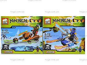 Конструктор Ninjagh «Герой с транспортом», JX80016, игрушки