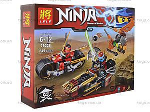 Конструктор Ninja «Погоня на мотоциклах», 249 деталей, 79228, фото