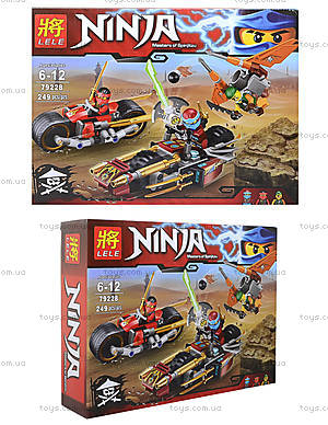 Конструктор Ninja «Погоня на мотоциклах», 249 деталей, 79228