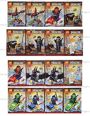 Конструктор с героем Ninjago, 8 видов, 79261