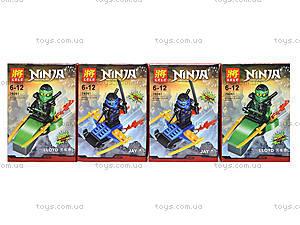 Конструктор с героем Ninjago, 8 видов, 79261, игрушки