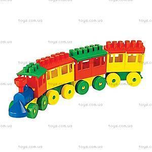 Конструктор «Паровоз с тремя вагонами», 36711