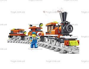 Конструктор «Паровоз и 2 вагона», 27091N, купить