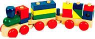Конструктор-паровозик деревянный, Д018