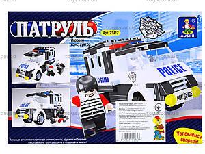 Конструктор «Патрульная машина», 128 деталей, 23412, отзывы