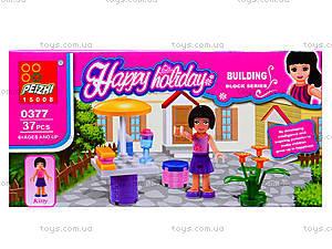 Конструктор для девочек Happy holiday, 37 деталей, 0377, цена