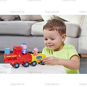 Конструктор Peppa «Паровозик дедушки Пеппы», 20 деталей, 06033, детские игрушки