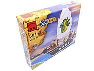 Конструктор «Пиратский корабль Барбара», 301, игрушки