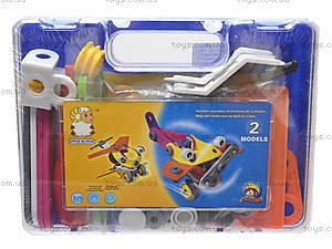 Конструктор пластиковый «Модели машин и вертолета», 2555-9A, детские игрушки