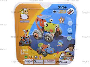 Детский конструктор «Веселые машинки», 2555-14E, купить