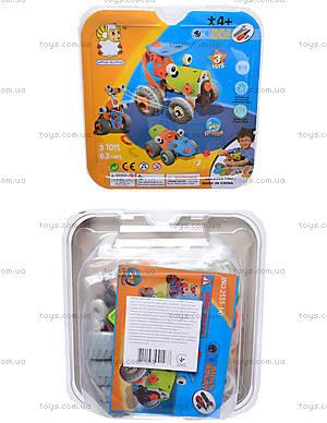 Детский конструктор «Веселые машинки», 2555-14E