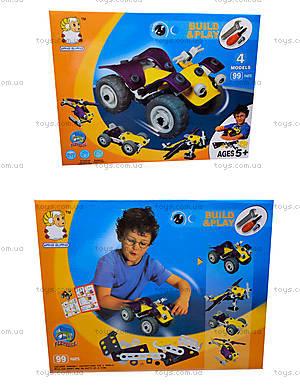 Модельный конструктор «Модели вертолета и машины», 2555-16