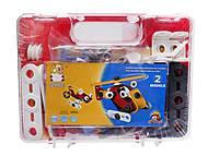 Конструктор пластмассовый «Вертолет и машина», 2555-13A
