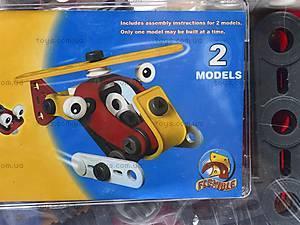 Конструктор пластмассовый «Вертолет и машина», 2555-13A, фото