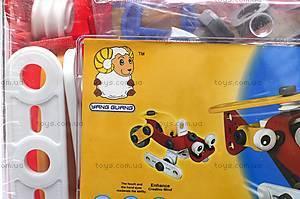 Конструктор пластмассовый «Вертолет и машина», 2555-13A, цена