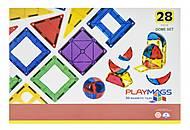 Конструктор Playmags магнитный набор 28 элементов, PM164, купить