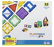 Конструктор Playmags магнитный набор 32 элемента, PM165, детские игрушки