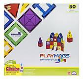Конструктор Playmags магнитный набор 50 элементов, PM152