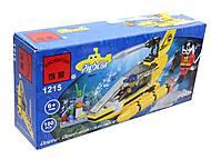 Конструктор «Подводная серия», 100 элементов, 1215, цена